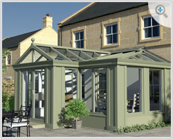 The Loggia is one of the latest offerings from Crendon Conservatories.
