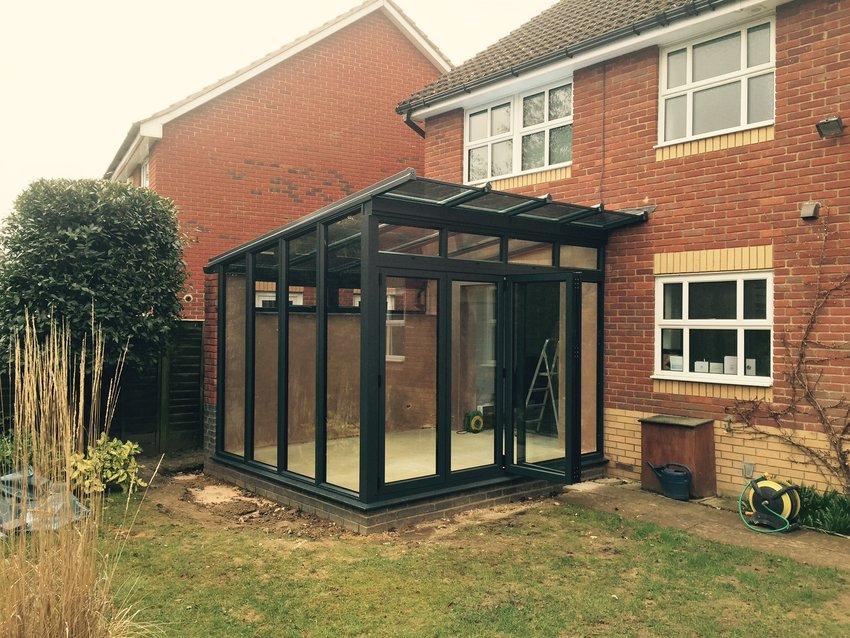 Aluminium Glass Lean Roof