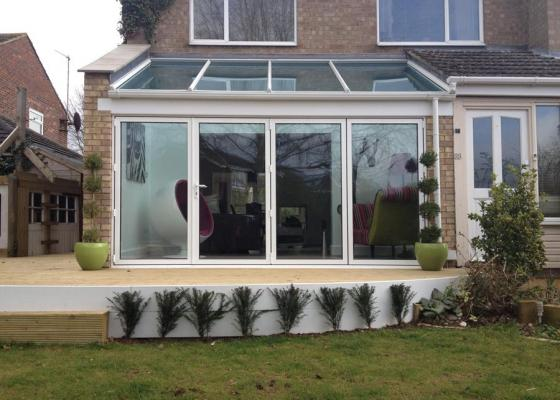 Glass Extension With Bi-Folding Doors in Thame