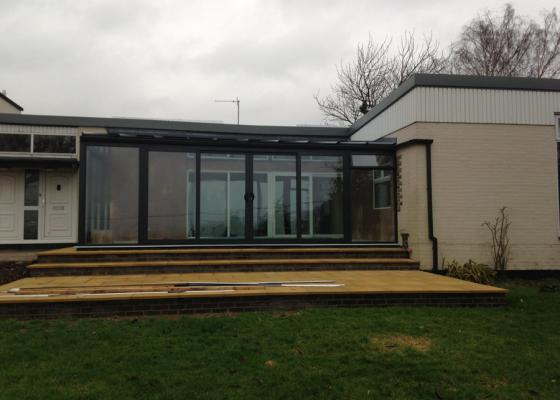 Modern Glass Extension in Wingrave