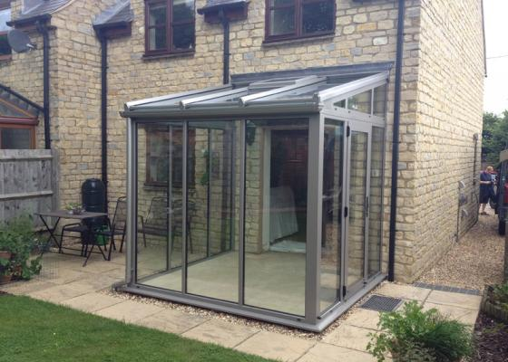 Modern, Minimal Glass Extension in Brackley