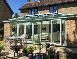 Aluminium Edwardian with Livin Room Section in Fringford