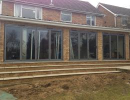 Aluminium Bi Folding Doors in Long Crendon